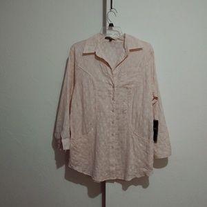 Love stitch tunic top Size small